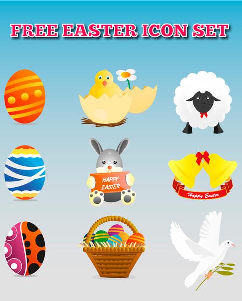 Ostern Vektor Icons