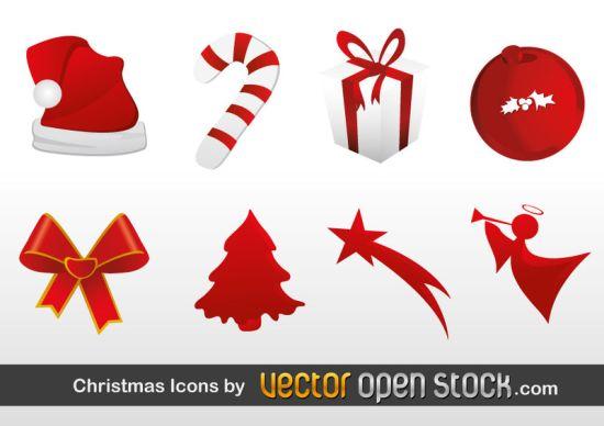 Weihnachten Vektor Icons