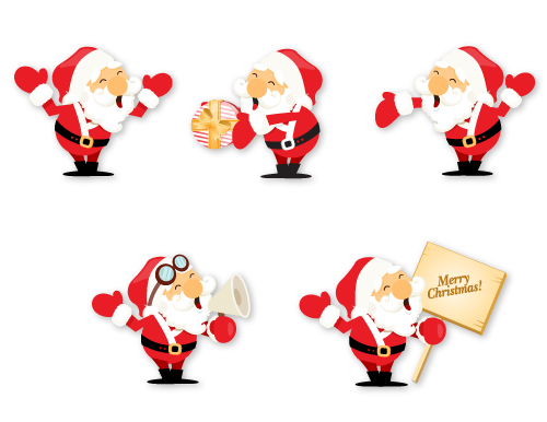 Weihnachtsmann Icons