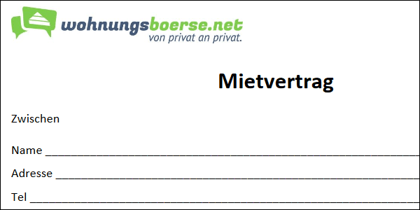 Mietvertrag PDF Download